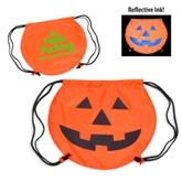 Polyester Pumpkin Shaped Drawstring BackPack Bag(41066)