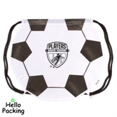Polyester Soccer Shaped Drawstring BackPack Bag(41061)