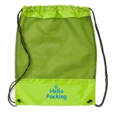 Polyester + Net Fabric Drawstring Backpack Bag(41052)