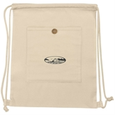 Nature Ecru Cotton Drawstring BackPack Bag(35028)