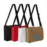 Promo NonWoven Messenger Bag with Shoulder Handle(16061)