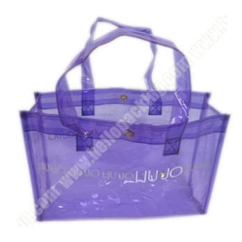 Semi-Transparent Purple PVC Tote Bag(71001) - Products - HelloPacking
